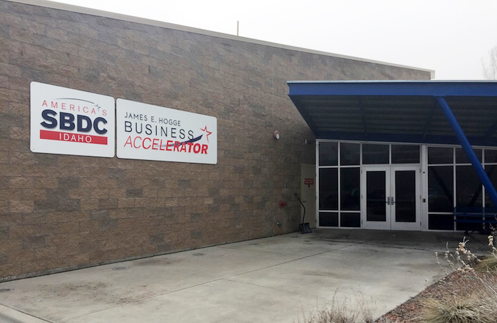 Nampa Accelerators building, from the outside.